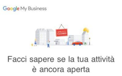 Sedi Google My Business chiuse per Covid-19